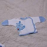 """Трикотажный набор для новорожденных, """"Monogram"""" голубой, фото 6"""