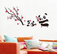 """Декоративные наклейки для детского сада, наклейка в детскую """"влюбленные панды"""" 60*130см (лист50*70см)"""