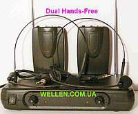 Двойная наголовная радиогарнитура Shure 2 гарнитуры радио на  голову радиомикрофоны для пения dual h-free