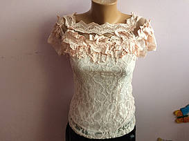 Блузка ажурная с подкладкой