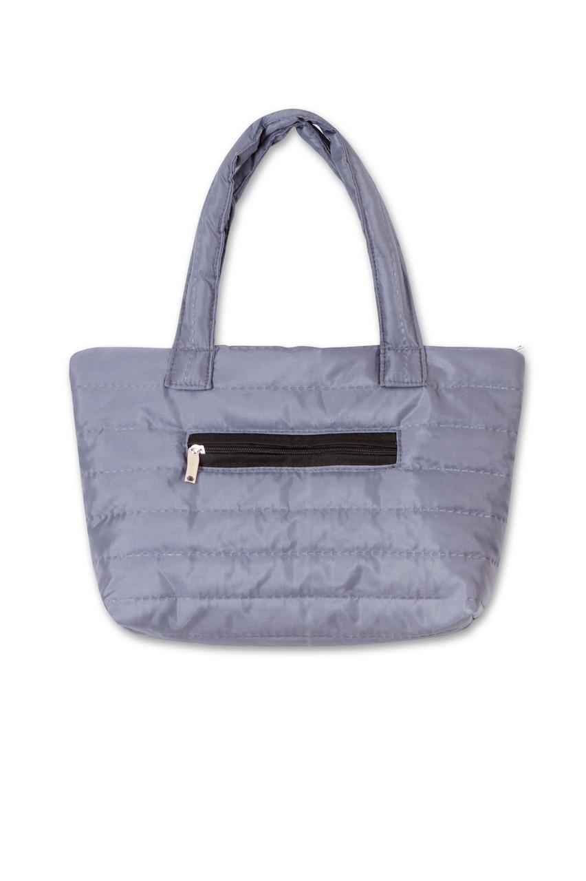 30e96b2d8060 Женская дутая сумка Мини серая. Разные цвета - интернет магазин ZUZU в Киеве