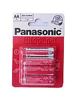 Батарейка Panasonic R6/АА Zinc Carbon 1.5 V блистер - 4шт. упаковка - 48шт.