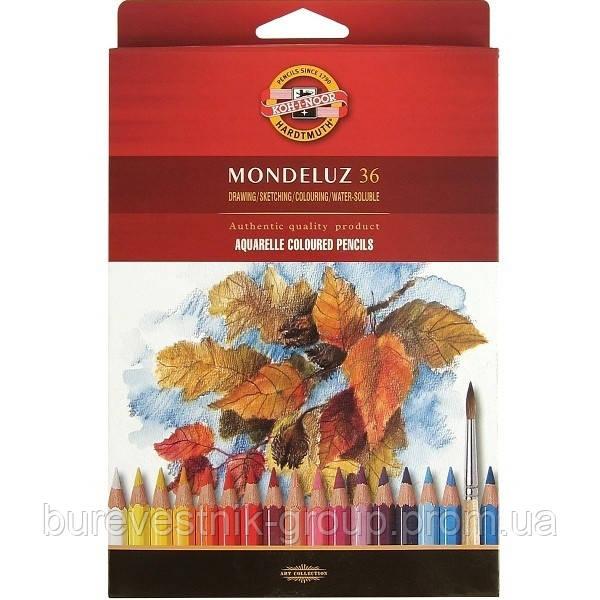 Художественные цветные акварельные карандаши Koh-I-Noor Mondeluz 36цв.