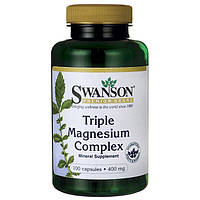 Минеральный комплекс Swanson Triple Magnesium Complex 400 mg 100 caps