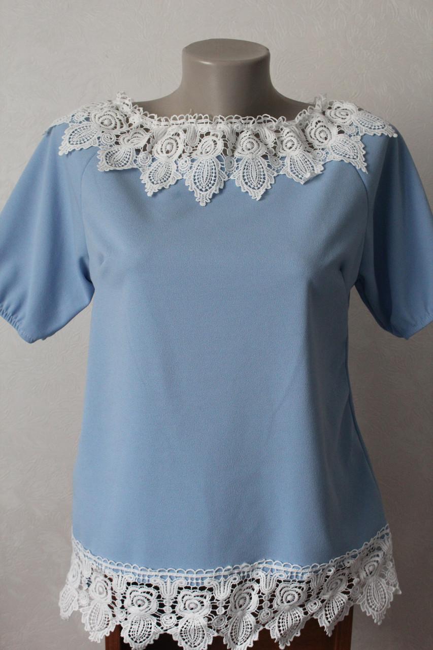 04d0131e4ef Блуза с кружевом - 2 - Elenka - женская одежда оптом  юбки и сарафаны  женские