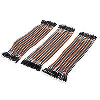 Набір провідників 120шт, 20см (гнізда-гнізда, штирі-гнізда, штирі-штирі) для Arduino, Raspberry Pi, STM32