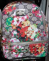 Рюкзак для девочки с цветочным принтом