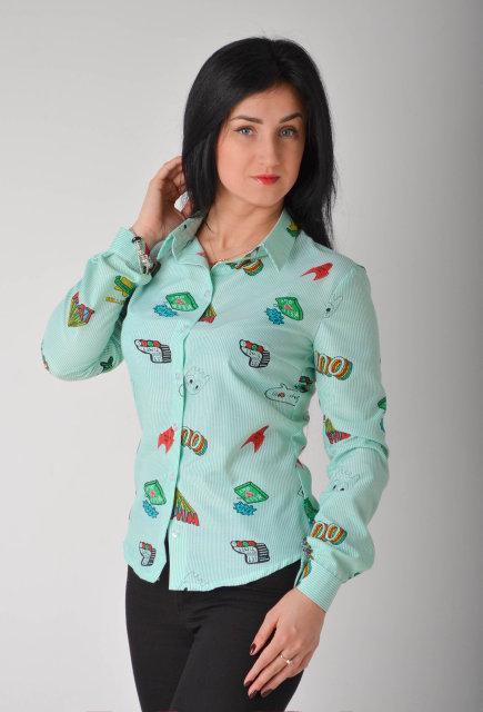 Привлекательная женская рубашка размеры 44,46,48,50