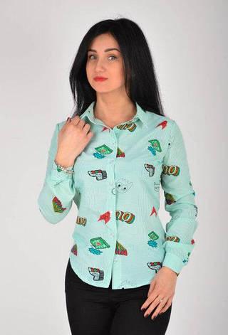 Привлекательная женская рубашка размеры 44,46,48,50, фото 2