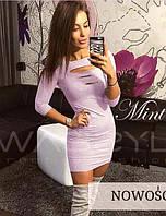 Яркие трикотажные платья 42-48