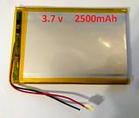 Polymer battery 3.7V 2500 mAh  литий-полимерные (Li‑pol) аккумулятор 3.7 В 2500 мАч