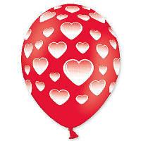 """Гелиевые шары латексные круглые с рисунком 1103-0836 шелкография пастель 14"""" сердца -101"""