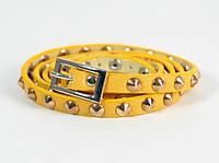 Ремень-браслет пояс женский Fancy Gindy Yellow