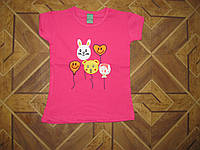 Детские футболки аппликация для девочки 1-7 лет Турция хлопок