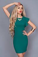 Платье  мод 241-6 размер 44 морская волна
