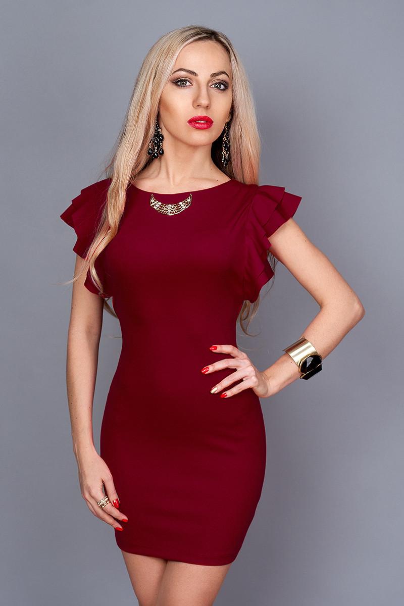 Платье  мод 241-8 размер 46 бордо