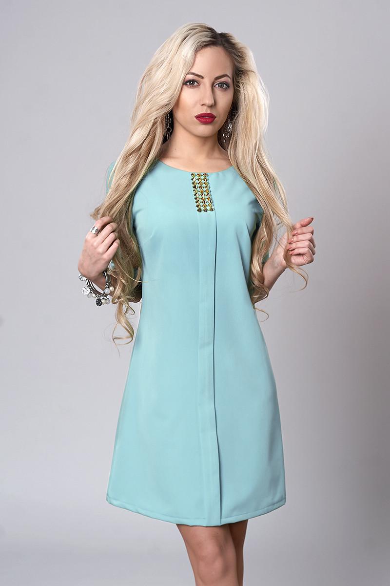 Платье мод. 281-7,размер 46,48 мята