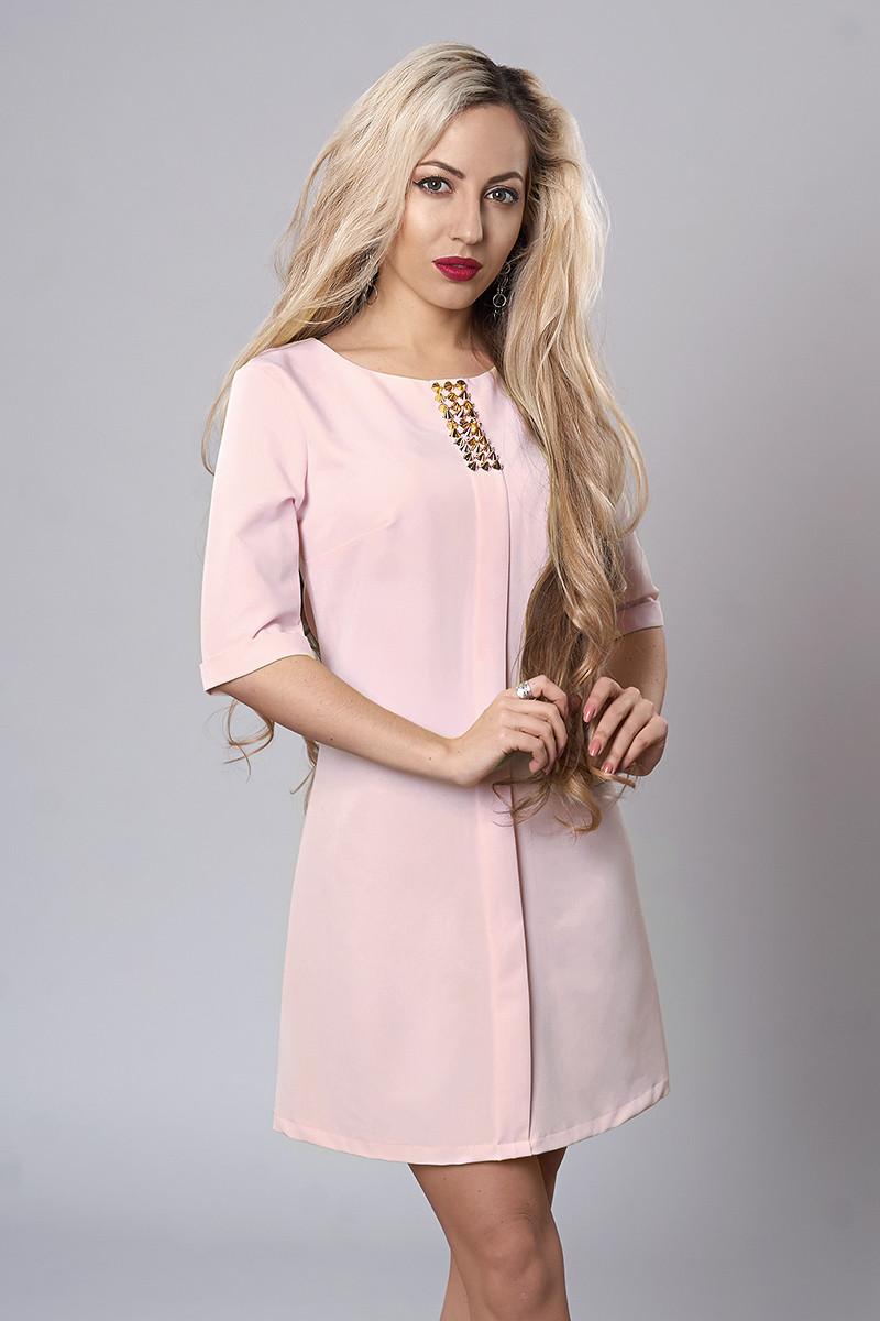 Платье мод. 281-8,размер 46 розовый кварц