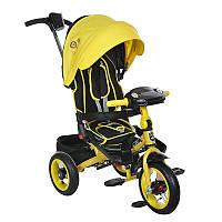 Велосипед трансформер трехколесный на надувных колесах Mars Mini Trike желтый (T400 жовтий)