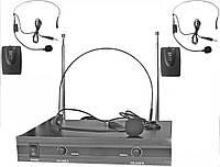 Наголовные двойные гарнитуры на голову Shure петличные радио микрофоны петлички ведущих и пения свободные руки