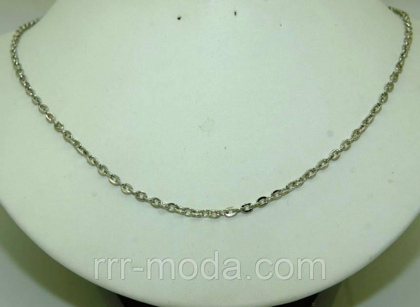 524 Женские якорные цепочки длиной 70 см под серебро.