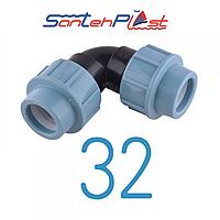 Колено пэ 32/32 Santehplast (Сантехпласт)