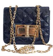 Женская сумка на плечо, через плечо Q-14 Синий, Бежевый