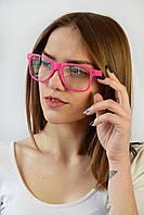 Имиджевые очки малиновые