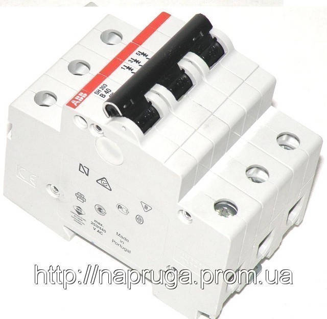 Автоматический выключатель abb(абб) 3-х полюсный  -автомат abb SH 203 B50 A