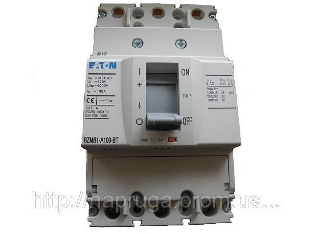 Силовой автоматический выключатель Eaton (Moeller) BZMB2-125А(3-х фазный)