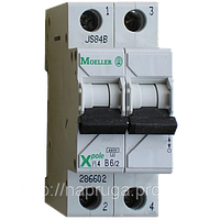 Автоматический выключатель Eaton (Moeller) PL4, C 20А 2- пол., 4,5kA
