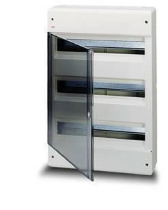 Щит-бокс пластиковый АВВ IP40 EUROPA 36 мод. Наружный, дверка  прозрачная.