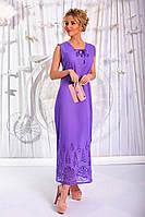 """Длинное летнее платье-сарафан """"Ocean"""" с вышивкой и разрезами (3 цвета)"""
