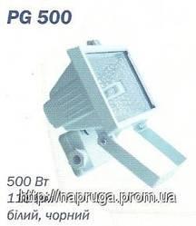 Прожектор галогенный  500 Вт под линейную галогенную лампу белый/черный