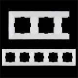 Рамка 5 постовая VIKO  Meridian (Белая, крем)