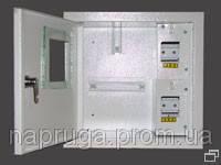ШМР-1Ф-4 щит распределительный метал.1-фазный счетчик  4 модуля внутр./наружн. Нова(Лоза)