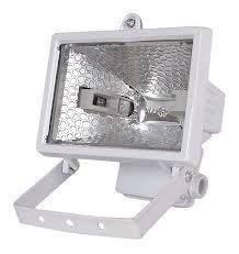 Прожектор галогенный  150 Вт под линейную галогенную лампу белый/черный