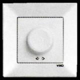 Светорегулятор (димер, реостат) 600w Viko Meridian (цве: белый, крем)