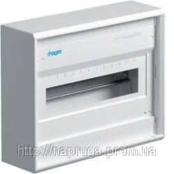 Щит(бокс) распределительный Hager Volta 12(14)-модулей накладной с белой металлическoй  дверкой