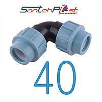 Колено пэ 40/40 Santehplast (Сантехпласт)