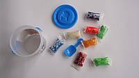 "Набор для творчества Тесто для лепки  ""Play Dough"" 8цв,1форм.лопатка  в ведре  .Набор для творчества Моделин """