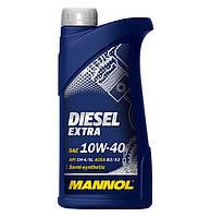Масло моторное MANNOL Diesel Extra п/синт. 10w40 1L CH-4/SJ (шт.)