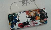 Клатч красивый с цветочным принтом.(Турция)