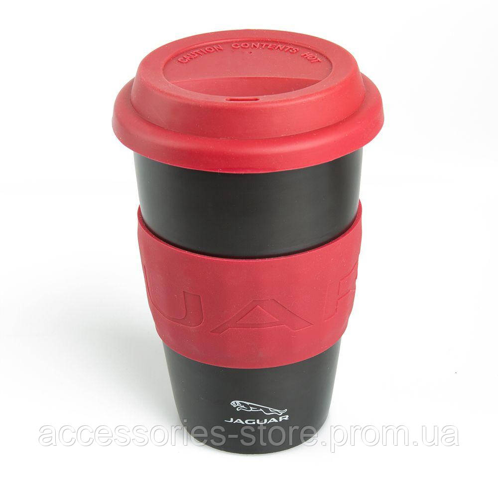 Керамическая термокружка Jaguar Travel Ceramic Mug, Red/Black