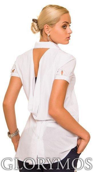 Летняя женская блуза с красивой спинкой