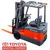 Электрический трехопорный погрузчик Toyota. Электропогрузчик Toyota, грузоподъёмностью от 1 до 2т.