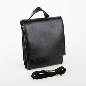 Мужская сумка Bred с клапаном черная / сумочка на плечо