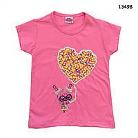 "Футболка ""Сердце"" для девочки. 98 см, фото 1"