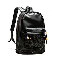 Черный женский городской рюкзак, фото 1
