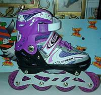 Ролики Happy Sport в сумке, роликовые коньки, размер 29-33, фиолетовый